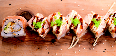 Foto Luxury salmon roll (8st.)
