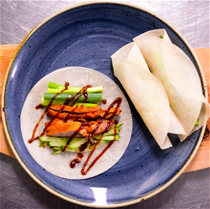 Foto Peking duck crêpes